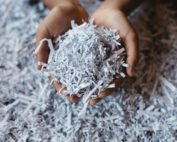 picture of finely shredded paper cupped in a hand